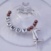 Drill Personalised Wine Glass Charm